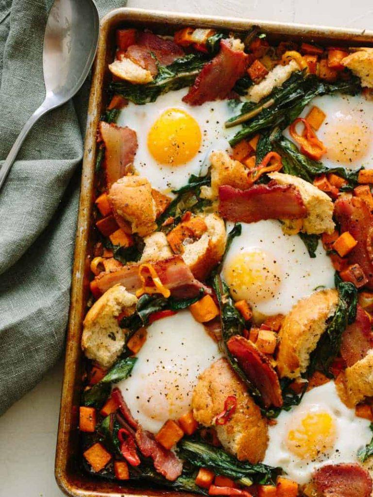 Plato de desayuno salado - Cuchara de tenedor de tocino