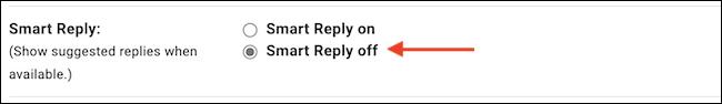 """En el """"Respuesta inteligente"""" opción, elige """"Respuesta inteligente deshabilitada"""" para desactivar la función."""