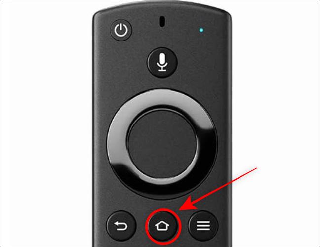 Mantenga presionado el botón Inicio en el control remoto de Fire TV durante 3 segundos
